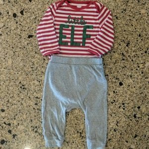 "Old Navy "" unisex"" Little Elf Outfit. Size 6-12 mo"